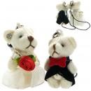 Love Pair Bears Cell Phone Straps (Wedding Bears)