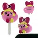 Mameshiba x Kyary Pamyu Pamyu Kyappy Mascot Earphone Jack Accessory (Pink)