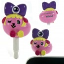 Mameshiba x Kyary Pamyu Pamyu Kyappy Mascot Earphone Jack Accessory (Purple)