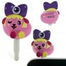 Mameshiba x Kyary Pamyu Pamyu Kyappy Mascot Earphone Jack Accessory (Purple)