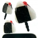 Plug Apli Food Sample Earphone Jack Accessory (Rice Ball / Onigiri)
