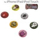 Nameko Growing Mushroom Home Button Sticker for the iPhone andiPad