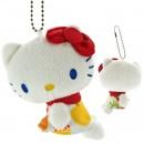 Sanrio Hello Kitty Nordic Apple Plush Doll Ball Chain - Red [Boneka]
