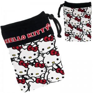 Sanrio Characters Multi-Utility Smartphone Pouch - L Size Hello Kitty Multiple [Tas Serut]