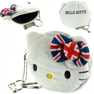 Sanrio Hello Kitty Union Jack Series Mini Plush Pouch [Dompet]