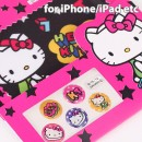 Sanrio Characters Home Button Stickers Set (Hello Kitty/Letter Style)