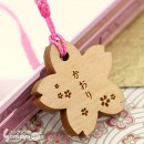 [Pre-Order] Personalized Wood Tag Sakura Netsuke Cell Phone Strap