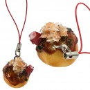 Japanese Food Sample Collection Cell Phone Strap (Takoyaki)