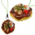 Japanese Food Sample Collection Cell Phone Strap (Okonomiyaki)