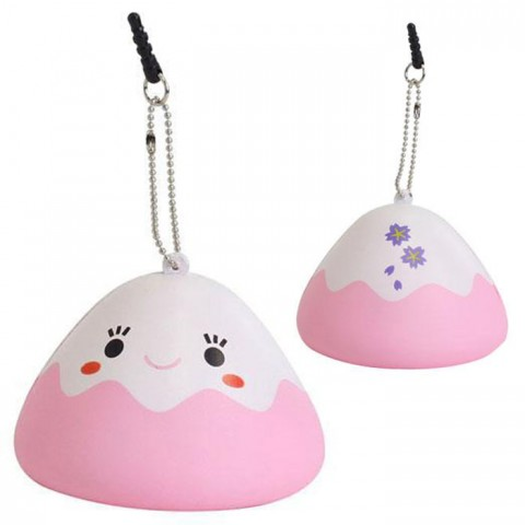 Japanese Kawaii Character Squishy Mascot Ball Chain Fujipon (Pink)