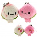 Kawaii Steamed Bean-Jam Bun Lovely Pair Phone Straps