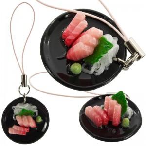 Gantungan HP Replika Makanan Jepang - Tuna Sashimi