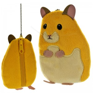 Earth Wind Series Soft and Downy Stuffed Chain Type Petit Pouch - Hamster Gold [Dompet Koin]