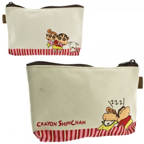 Dompet Make-Up Crayon Shin-chan - Pink