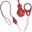 Hand Linker Putto Mobile Neck Strap with Carabiner - Merah