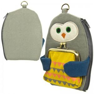 Dompet Multi Fungsi Happy Cat Day - Hug Owl - Burung Hantu