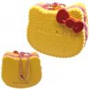 Gantungan Kunci Hello Kitty Squishy seri Sweets Cafe - Biskuit bentuk Muka Stroberi Krim