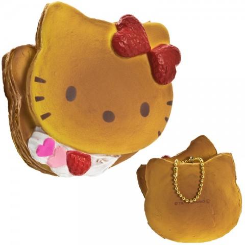 Gantungan Kunci Hello Kitty Squishy seri Lovely Sweets - Pancake Krim