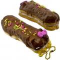 Gantungan Kunci Hello Kitty Squishy seri Lovely Sweets - Eclair Coklat