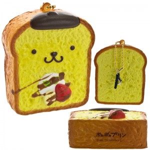 Gantungan Kunci dan Penutup Lubang Earphone Pompompurin Squishy - French Toast