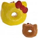 Gantungan Kunci Hello Kitty Squishy seri Sweets Cafe - Big Donut Lemon