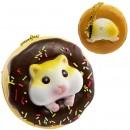 Gantungan Kunci Donut Golden Hamster Squishy seri Sweet Life - Coklat