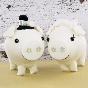 Sepasang Boneka Pengantin Babi Tonton - Small