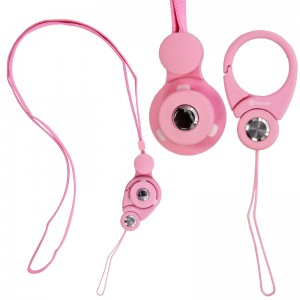Hand Linker Putto Mobile Neck Strap with Carabiner - Baby Pink