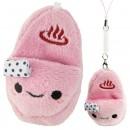 Gantungan HP Boneka Sendal - Onsen Manju Pink
