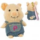 Gantungan Kunci Boneka Babi Pu-ton - Denim