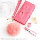 Gantungan Kunci Tas Bulu Kelinci Asli - Pink