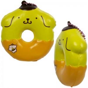 Gantungan Kunci Squishy Pompompurin Donut dengan Plugy - Cinnamon