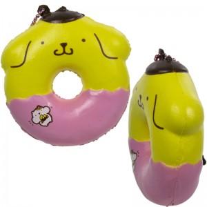 Gantungan Kunci Squishy Pompompurin Donut dengan Plugy - Berry