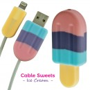 Cover Kabel Lightning iPhone Sweets Ice Cream - Grape Soda