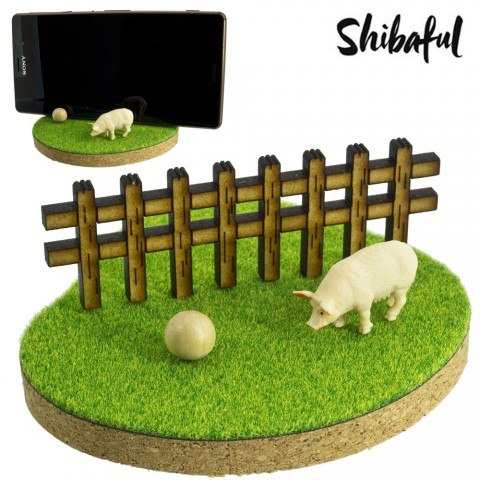 Shibaful Dudukan HP Multifungsi Binatang - Babi
