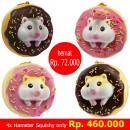 [SET] Gantungan Kunci Donut Golden Hamster Squishy seri Sweet Life - 4 buah