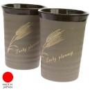 Mug Keramik Motif Gandum Sepasang
