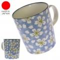 Mug Keramik Benikura Bunga Sakura Biru