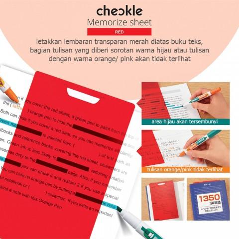 KOKUYO Checkle Pen with Memorize sheet PM-M120P-S
