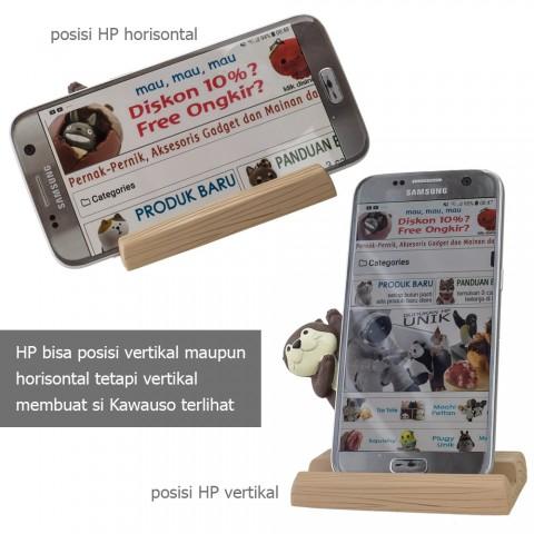 Dudukan HP DECOLE Kawauso Cafe - Berang-berang Coklat