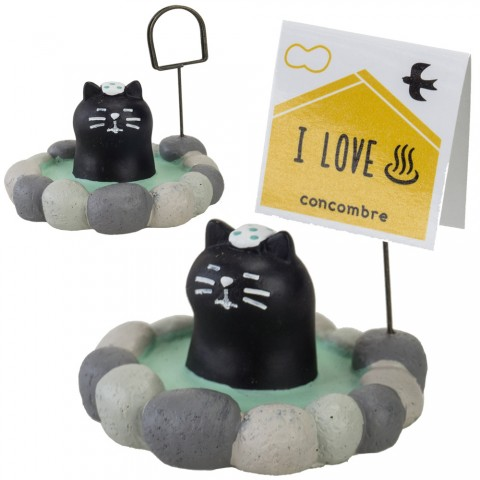 Card Stand Holder DECOLE Concombre Traveling - Onsen Kucing Hitam
