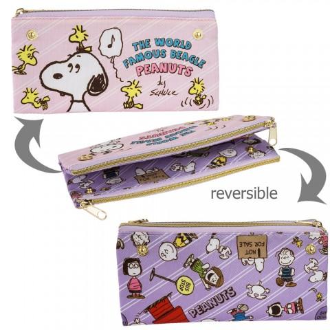 Tempat Pensil Snoopy Bolak-balik - Pink Ungu
