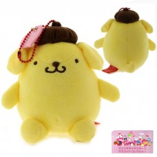 Sanrio Collection Pompompurin Plush Doll Ball Chain
