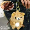 San-X Rilakkuma Plush Cell Phone Pouch with Carabiner (Rilakkuma)